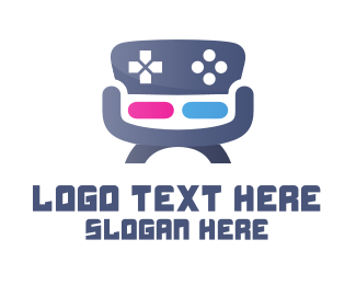 Couch - Gaming Chair logo design