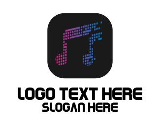 Dj - DJ Music Application logo design