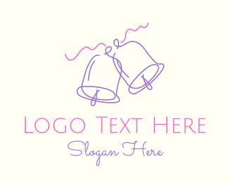 Wedding Bells Outline Logo