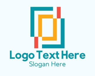 Rectangle - Rectangle Shape Art Shop logo design