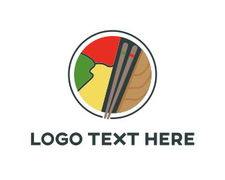 Roll - Sushi Land logo design