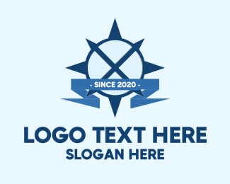 South - Compass Letter X logo design