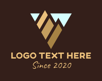 Triangular - Triangular Mountain Range Destination logo design
