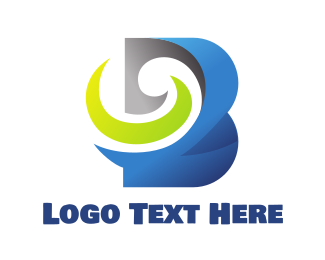 Partnership - Blue Swirly Bold B logo design