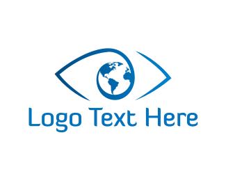 Vision - World Eye logo design