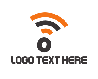 Wireless - Wifi Letter O logo design