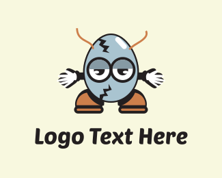 Horns - Egg Cartoon logo design