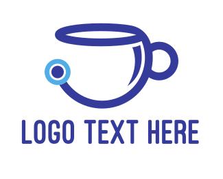 Coffee - Tech Coffee Cup logo design