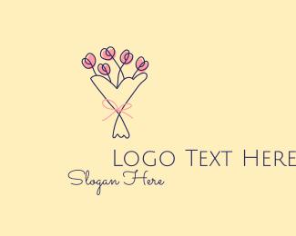 Simplistic - Flower Bouquet Florist  logo design
