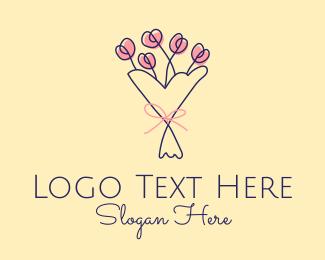 Wedding Coordinator - Flower Bouquet Florist  logo design