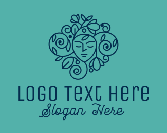 Beauty Wellness - Floral Face Beauty  Cosmetics logo design