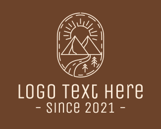 Rock Formation - Simple Outdoor Travel logo design