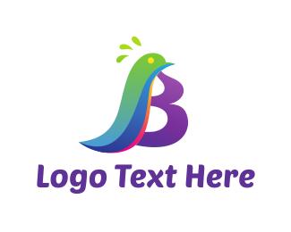 Little - Bird Letter B logo design
