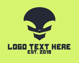 Apex - Black Alien Skull logo design