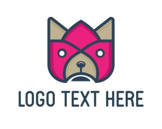 Pet Shop - Flower & Dog logo design