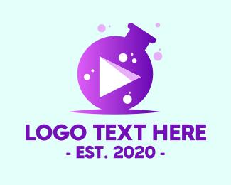 Science - Science Youtube Vlog logo design