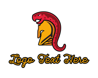 War - Snake Warrior logo design