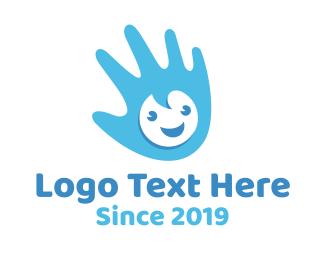 Happiness - Baby Hand logo design