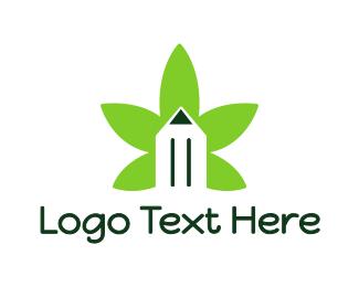 Copywriter - Cannabis Pencil logo design
