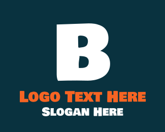 Teen - Friendly Bold White Letter B logo design