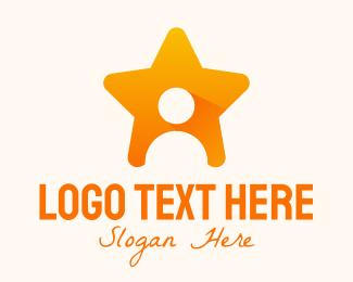 Id - Entertainment Profile Star logo design