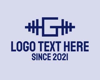 Letter - Weightlifting Letter G logo design
