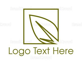 Botanical - Green Leaf logo design