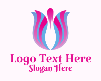 Ornamental Plants - Tulip Flower Floristry logo design