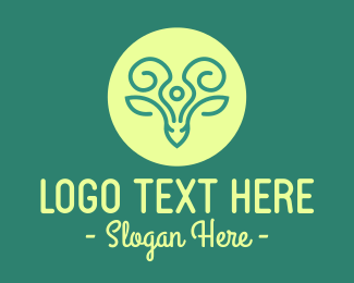 Moose Antlers - Creative Deer Horns logo design