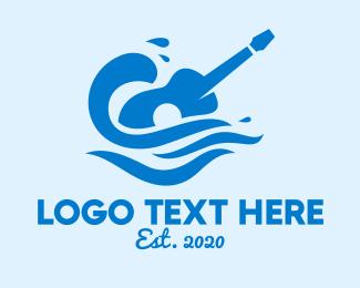 Concert - Beach Guitar Concert logo design