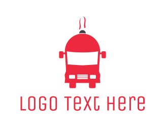 Red Food Truck Logo