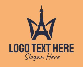 Tourist Attraction - Paris Eiffel Tower  logo design