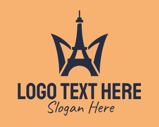 Tourist - Paris Eiffel Tower  logo design