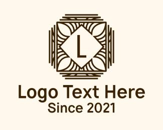 Wooden - Wooden Leaf Decoration logo design