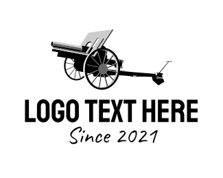 Cannon - Artillery Cannon logo design