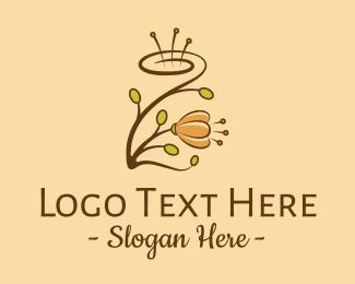 Centerpiece - Flower Swirl  logo design