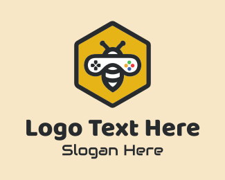 Twitch - Bee Game Controller  logo design