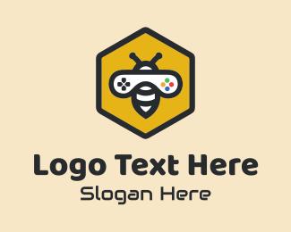 Ps4 - Bee Game Controller  logo design