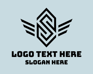 Esports - Winged Letter S logo design