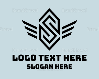 Wing - Winged Letter S logo design