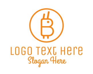 Blockchain - Orange Rabbit Coin logo design