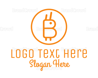 Crypto - Orange Rabbit Coin logo design