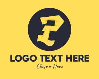Letter P - Yellow Letter P logo design