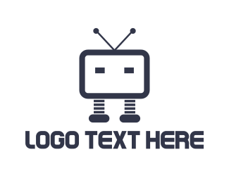 Tv - Robot TV logo design