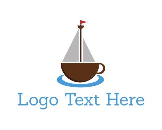 Sailboat - Coffee Ship logo design