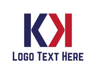 America - K & K logo design