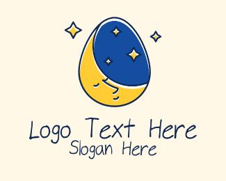 Bedtime Stories - Bedtime Story Egg logo design