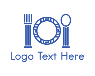 Dish - Greek Restaurant logo design