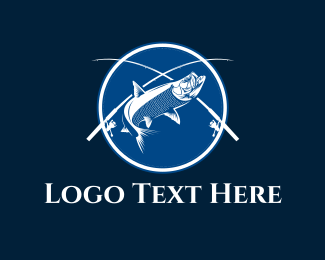 Salmon - Blue Fish  logo design