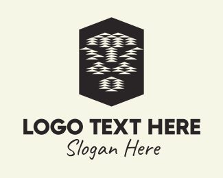 Textile - Tribal Lion Head logo design